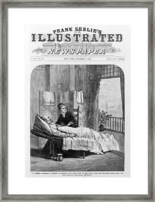 President Garfield, Following Framed Print by Everett