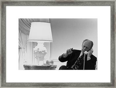 President Gerald Ford In The Second Framed Print by Everett