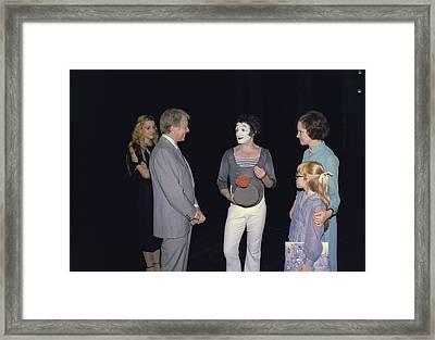 President Jimmy Carter Rosalynn Carter Framed Print by Everett