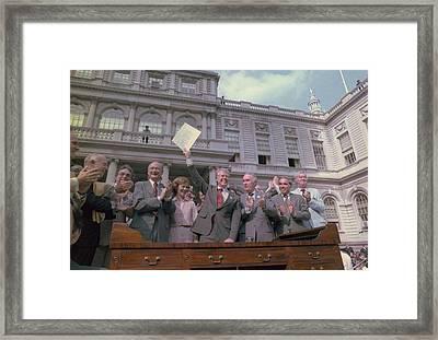 President Jimmy Carter With New York Framed Print by Everett
