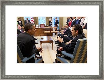 President Obama Reaffirmed Us Framed Print by Everett