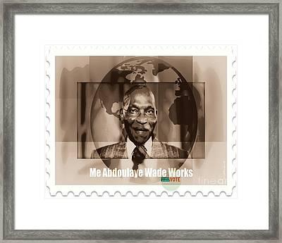 President Wade - Servant Of Senegal  Framed Print by Fania Simon