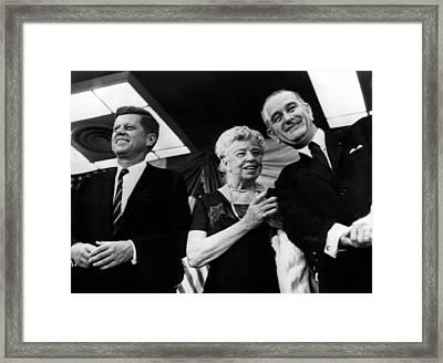 Presidential Candidate John F. Kennedy Framed Print by Everett