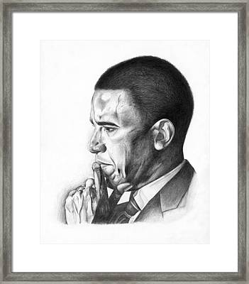 Presidential Thoughts Framed Print by Jeff Stroman