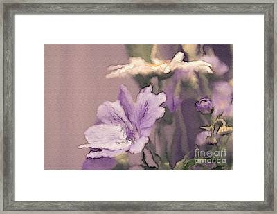 Pretty Bouquet - A05t01 Framed Print by Variance Collections