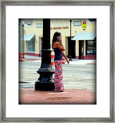 Pretty Woman Framed Print by Karen Wiles