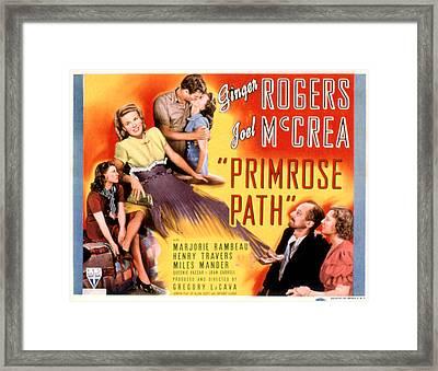 Primrose Path, Ginger Rogers, Joel Framed Print by Everett
