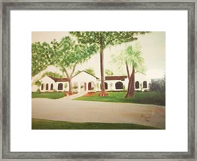 Prince Faisal's Home In Fl Framed Print by Alanna Hug-McAnnally