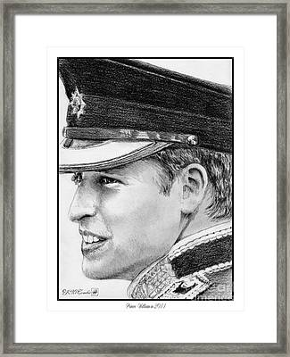 Prince William In 2011 Framed Print by J McCombie