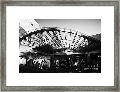Princes Mall Princes Street Edinburgh Scotland Uk United Kingdom Framed Print by Joe Fox