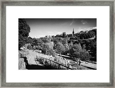 Princes Street Gardens Edinburgh Scotland Uk United Kingdom Framed Print by Joe Fox