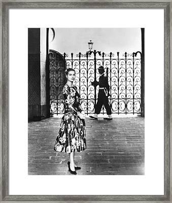 Princess Grace Kelly, 1956 Framed Print by Everett