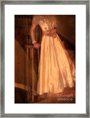 Princess On Stairway Framed Print by Jill Battaglia