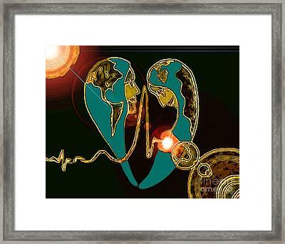Principio Framed Print by Jose Vasquez
