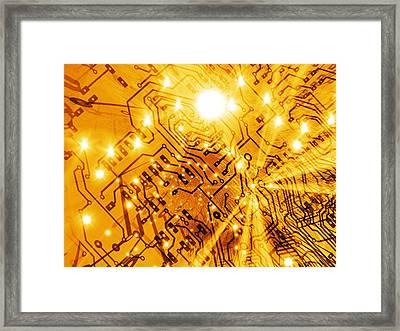 Printed Circuit Board, Artwork Framed Print by Mehau Kulyk