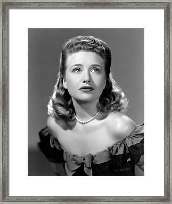 Priscilla Lane, Ca. 1942 Framed Print by Everett