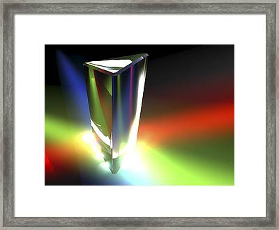 Prism, Light Spectrum Framed Print by Pasieka