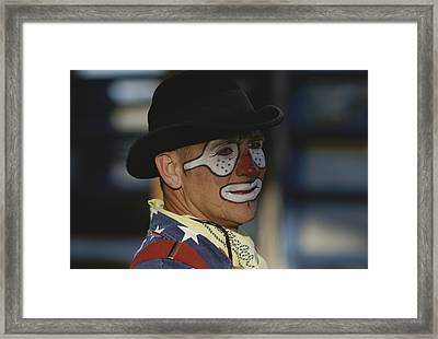 Professional Rodeo Clown Butch Framed Print by Bobby Model