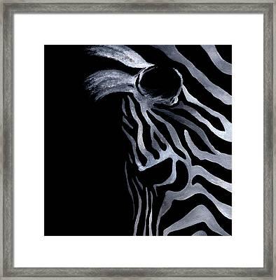 Profile Of Zebra Framed Print by Natasha Denger