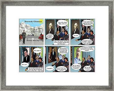 Promise To Uphold The Constitution And My Zipper Framed Print by Kevin  Marley
