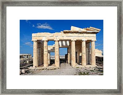 Propylaia - Greece Framed Print by Constantinos Iliopoulos
