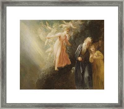 Prospero - Miranda And Ariel  Framed Print by Thomas Stothard
