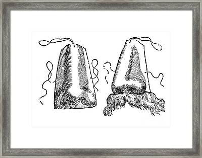 Prosthetic Noses, 1628 Framed Print by Science Source