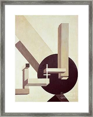Proun 10 Framed Print by El Lissitzky