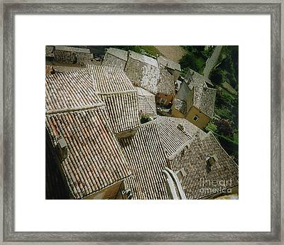 Provence Rooftops Framed Print by Pamela Canzano