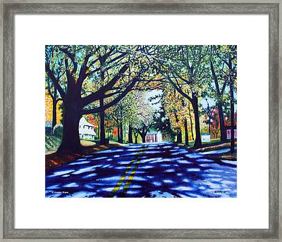 Providence Road Framed Print by Jerry Kirk