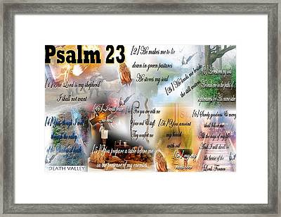 Psalm 23 Framed Print by Barbara Judkins-Stevens