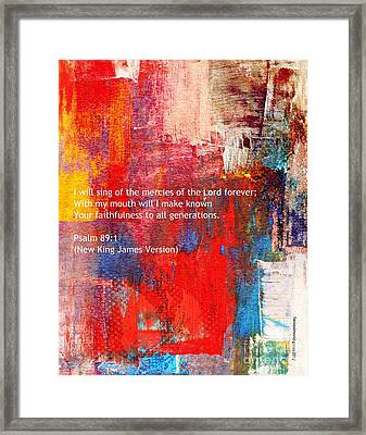 Psalm 89 - 1 Framed Print by Fania Simon