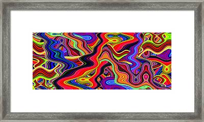 Psychedelic 60s Framed Print by Phill Petrovic