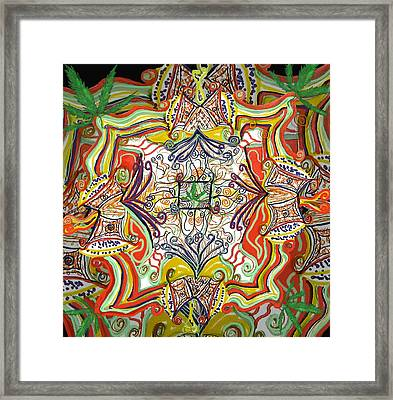 Psychedelic Art - The Jester's Cap Framed Print by Barbara Giordano