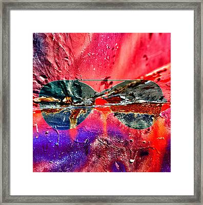 Psychedelic Spectacle  Framed Print by JC Photography and Art
