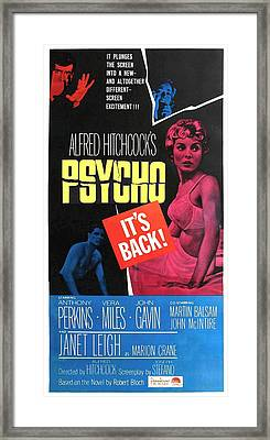 Psycho, Top Left Anthony Perkins Top Framed Print by Everett