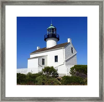 Pt. Loma Lighthouse Framed Print by Carla Parris