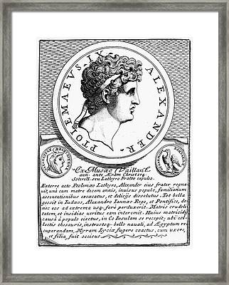 Ptolemy X (d.88 B.c.) Framed Print by Granger