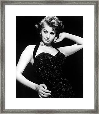 Publicity Shot Of Sophia Loren Taken Framed Print by Everett