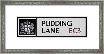 Pudding Lane Framed Print by Dawn OConnor
