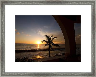 Puerto Rican Sunset I Framed Print by Tim Fitzwater