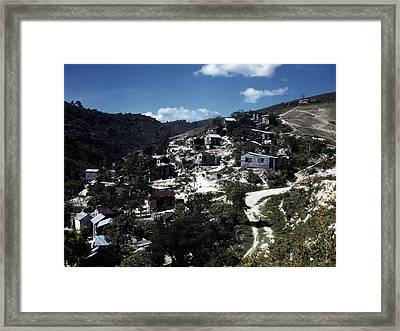 Puerto Rico. A Town In Puerto Rico Framed Print by Everett