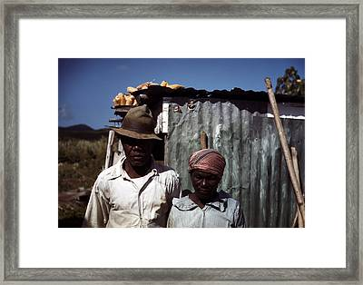 Puerto Rico. Tenant Farmers Framed Print by Everett