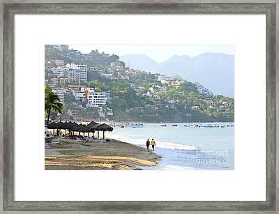 Puerto Vallarta Beach Framed Print by Elena Elisseeva