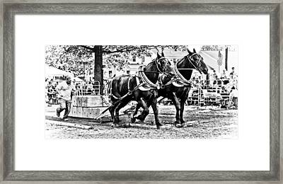Pulling 9000 Pounds Framed Print by Mike Martin