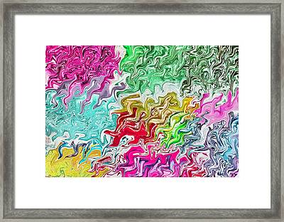 Pulling Colors Abstract Framed Print by Debbie Portwood