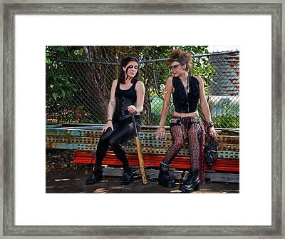 Punk Women Framed Print by Jim Boardman