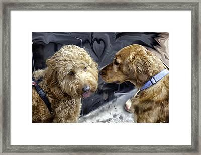 Puppy Love Framed Print by Madeline Ellis