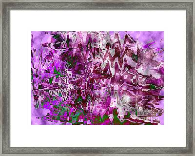 Purple Abstract Framed Print by Carol Groenen