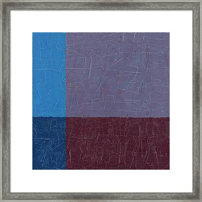 Purple And Blue Framed Print by Michelle Calkins